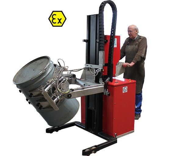 Dreh-Greifer mit Spannautomatik nach ATEX-Richtlinien