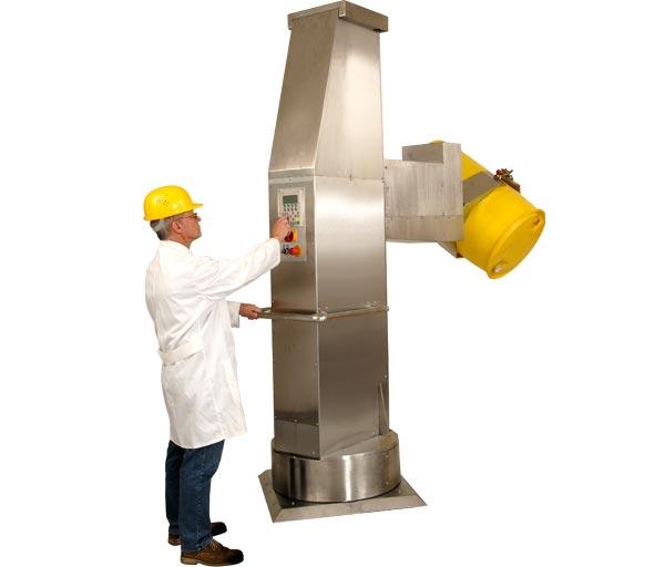 Dreh-Greifer mit Spannautomatik und Hubsäule